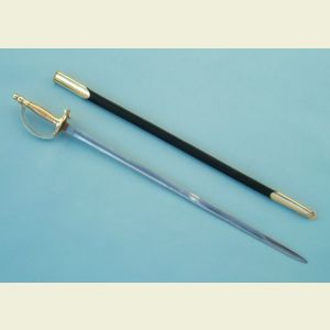 Engravable Confederate NCO Sword with Leather Scabbard