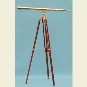 Engravable Premium 44-inch Brass Harbormaster Telescope with Arc Mount