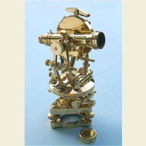 Engravable Calibrated Brass Theodolite with Tripod and Case