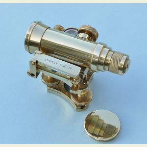 Engravable Small Brass Dumpy Level with Hardwood Case