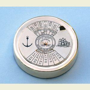 Small Brass Perpetual Calendar Paperweight