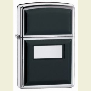 Zippo Chrome Ultralite Black Lighter