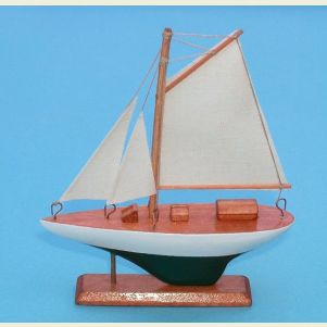 Gaff Rigged Sloop Ships Model and Refrig. Magnet