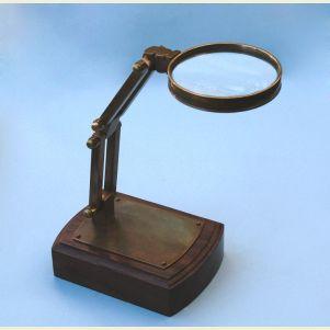 Engravable Solid Brass Adjustable Stand Magnifier