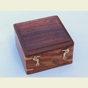 Engravable Hardwood Case for Box Sextant