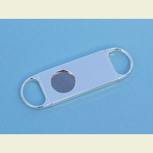 Engravable Silver Plated Two Finger Cigar Cutter