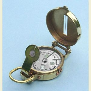 Engravable Polished Brass Military Lensatic Compass