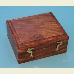 Engravable Hardwood Case for Miner's Compass