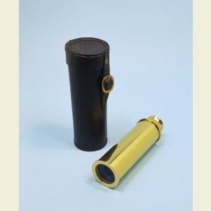 Engravable Premium Quality 13-inch Brass Spyglass Telescope with Leather Case