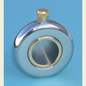 Engravable 5 ounce Stainless Steel Window Flask