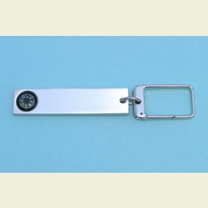 Engravable Aluminum Key Chain Compass and Luggage Tag