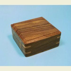 Engravable Large Plain Hardwood Storage Case