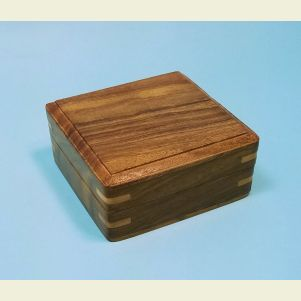 Engravable Medium Plain Hardwood Storage Case