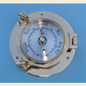 Medium Size Solid Brass Ship's Barometer