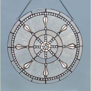 Ship's Wheel Stained Glass