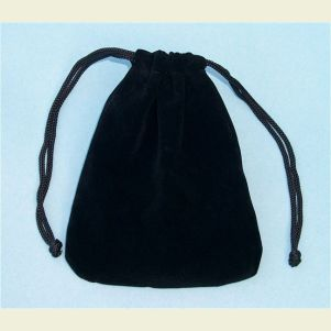 Black Large Velvet Pouch